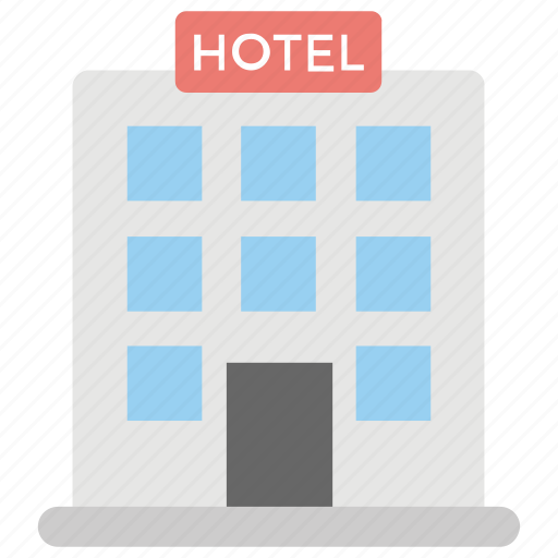 hotel, hotel building, inn, public house, real estate icon