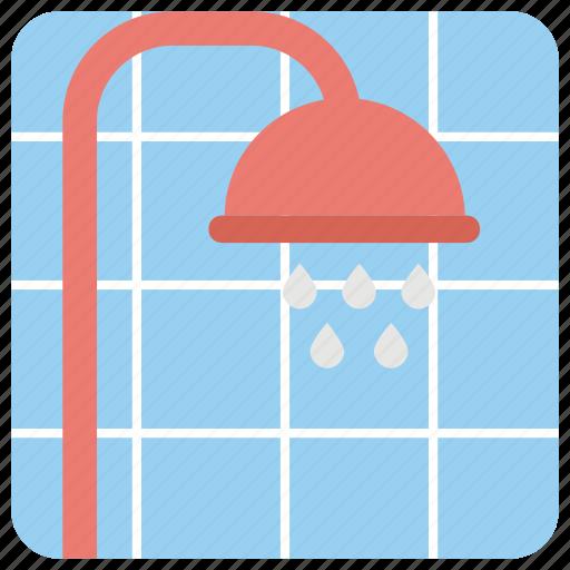 bath, bath shower, shower head, taking shower, water drops icon
