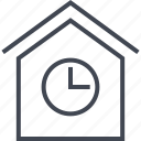 estate, home, house, real, time icon