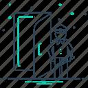 doorkeeper, doorman, servant, service icon