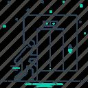 elevator, lift, people, staff icon