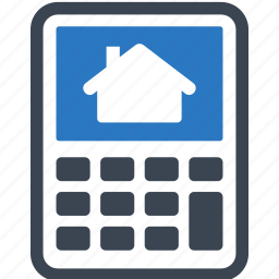 loan, mortgage calculator, real estate icon