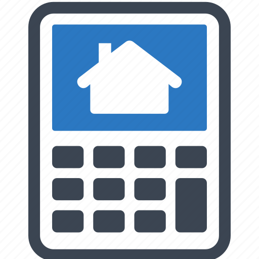 loan  mortgage calculator  real estate icon