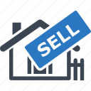 house, real estate, sell home, sell sign icon