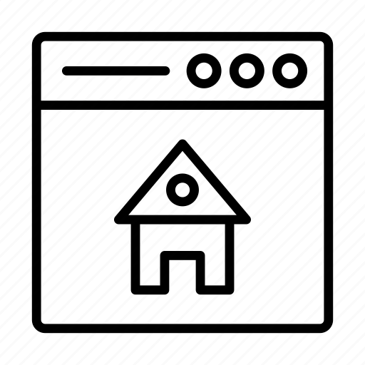 building, house, online, realestate, webpage icon