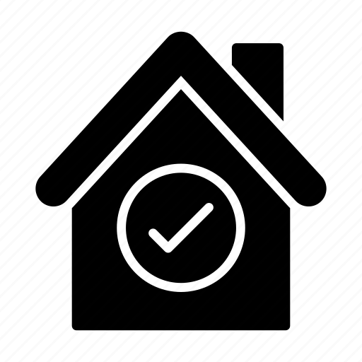 Building, check, complete, home, house icon - Download on Iconfinder
