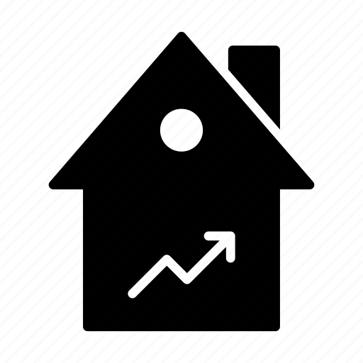building, graph, growth, home, house icon