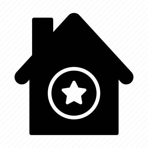 building, home, house, realestate, starred icon