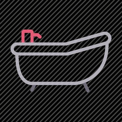 bath, bathroom, building, construction, tub icon