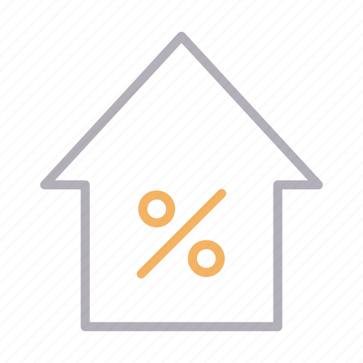 discount, home, house, offer, sale icon