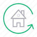 building, home, house, realestate, reload icon