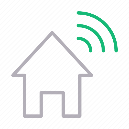 Building, home, house, realestate, signal icon - Download on Iconfinder