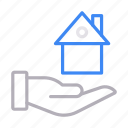building, home, house, protection, secure icon