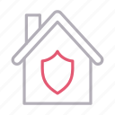 building, home, house, secure, shield icon