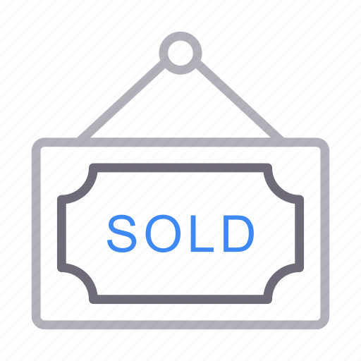 Board, hanging, property, realestate, sold icon - Download on Iconfinder