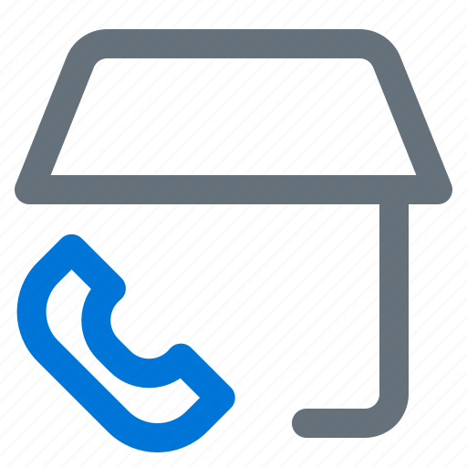 building, call, center, home, services icon