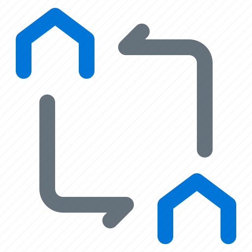 building, cycle, estate, home, money, real, rotation icon
