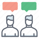 chatting, conversation, discussion, negotiation, people communication icon