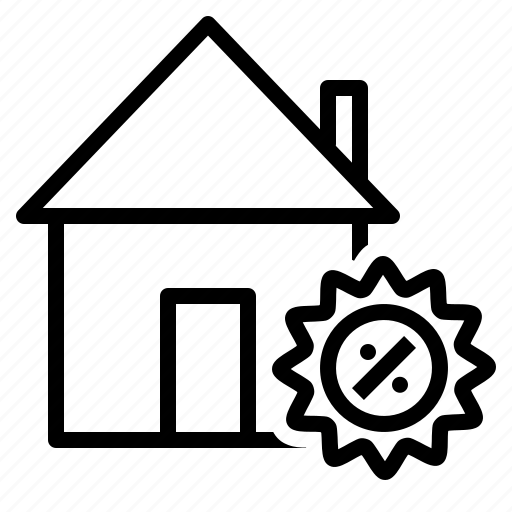 discount, estate, home, house, offer, property, sell icon