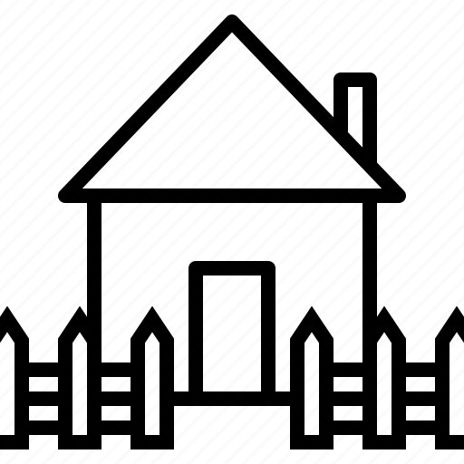 estate, fencing, home, house, railing, real, safe icon