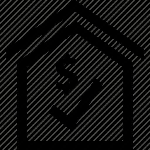 check, house, mark, safe icon