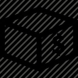 box, dollar, moving, shipping icon
