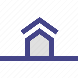 field, front, home, house, lawn icon