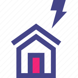 fast, home, house, lightning, power icon