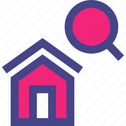 find, home, house, look, search icon