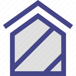 clean, home, house, lines icon