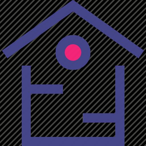 home, house, top, window icon
