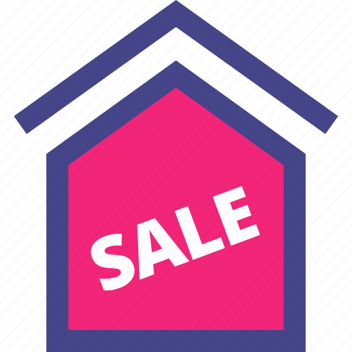 home, house, sale, sign icon