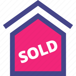 home, house, property, sold icon