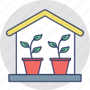 eco friendly, ecological house, ecology, glasshouse, greenhouse icon