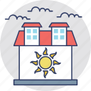 building, family house, farm house real estate, warm house icon