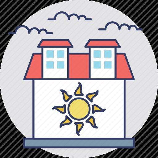 building, family house, farm house real estate, warm house icon