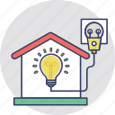 domestic electricity, electrical wiring, electricity, electricity connection, house wiring icon