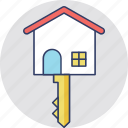 downpayment, home key, house ownership, mortgage, renting apartment icon