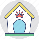 dog bone, dog house, dog kennel, dog shed, pet house icon