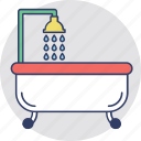 bath, bathroom, bathtub, jacuzzi tub, shower tub icon
