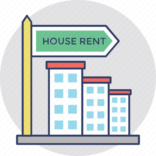 house rent, landed property, property rental, relocation, tenant lease icon