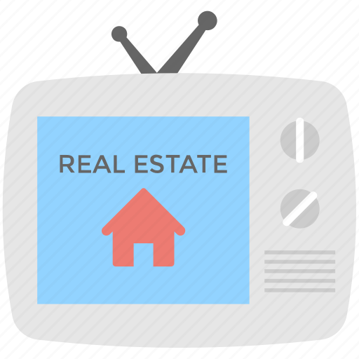 property ads, property marketing, real estate advertisement, real estate promotion, tv ads icon
