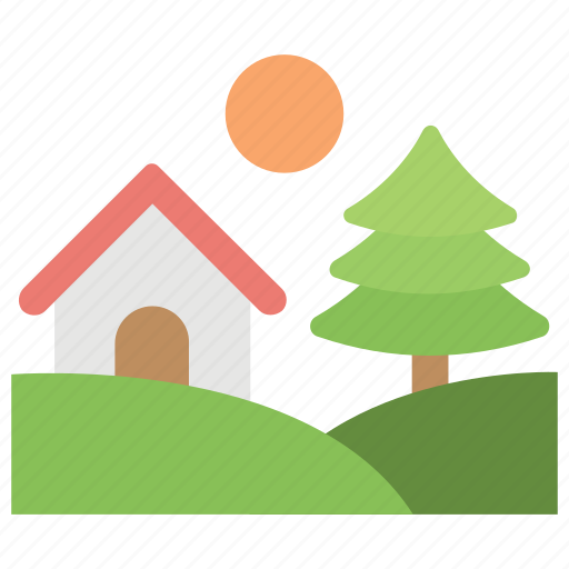 agriculture home, country estate, country mansion, countryside home, rural house icon