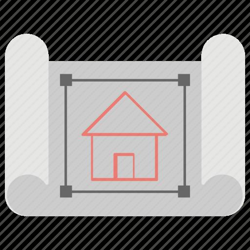 architectural blueprints, architectural design, architectural project, construction plan, house plan icon