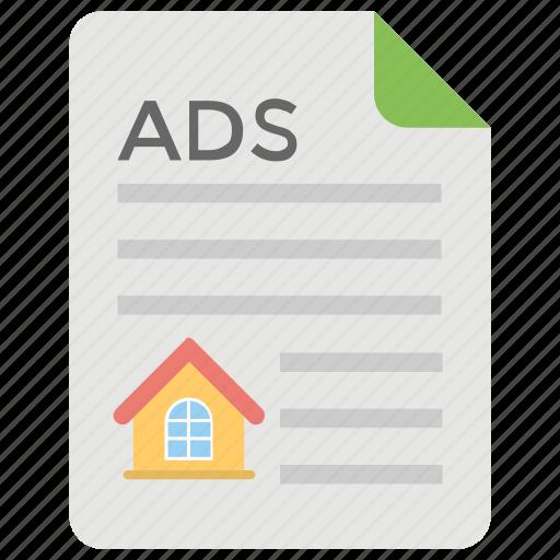 property ads, real estate ads, real estate classified, real estate news, real estate property ads icon
