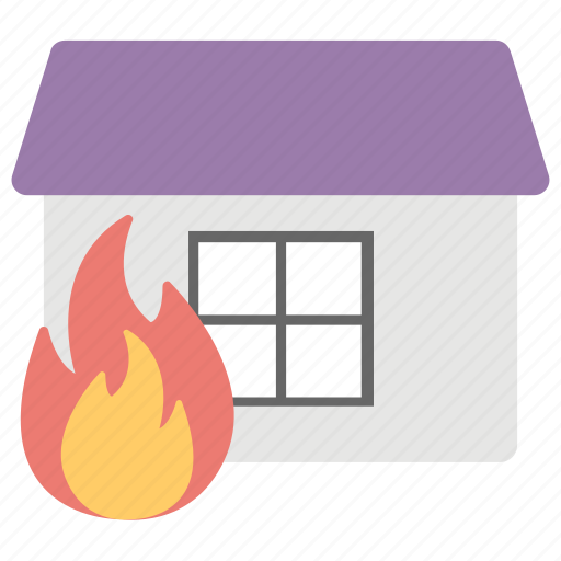 burning house, fire insurance, fire security, house insurance, house on fire icon