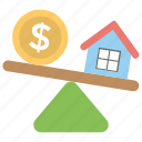 property assessment, property value, property value seesaw, see saw business, seesaw dollar house