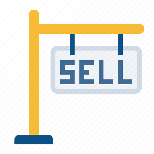 board, building, home, house, notice, rent, sell icon