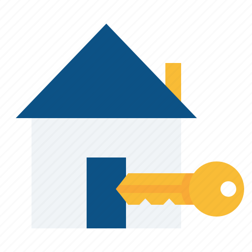 estate, home, key, lock, property, real, rent icon
