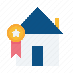 award, building, estate, home, house, property, real icon